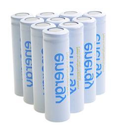 1-10X 18650 Batteries 3.7V Rechargeable Li-ion Flat Top Batt