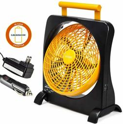 """O2COOL 10"""" Rechargeable Battery Operated Fan - Portable for"""