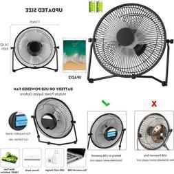 Comlife 11 Inch Battery Powered Desk Fan Usb Table Fan, Rech