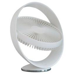 1X(Electric Fan USB Autumn Leaf Fan 2000MAh Rechargeable Des