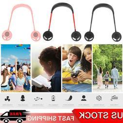 2020 Adujustable 3 Speed Neck Fan Dual Head Personal Fan USB