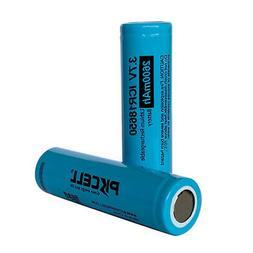 2pcs ICR 18650 2600mAh 3.7V Li-ion Lithium Rechargeable Neck