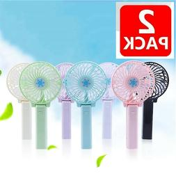 New USB Rechargeable Fan Portable Pocket Mini Handy Air Cool