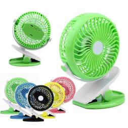 360° Degree Rotation Portable Clip Fan 4 Speed Rechargeable