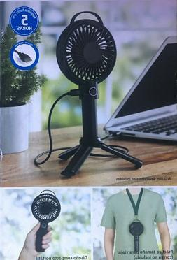 rechargeable or usb powered portable fan black