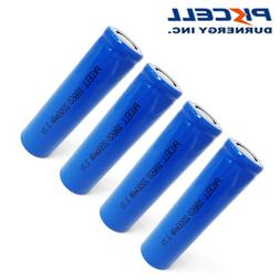4 x 18650 Lithium Rechargeable Batteries 3.7v 2200mAh Flat T