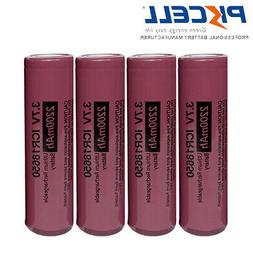 4X PKCELL 18650 3.7V 2200mAh Rechargeable Li-Ion Battery Fla