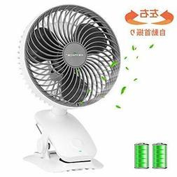 KEYNICE fan small rechargeable desk fan usb fan clip
