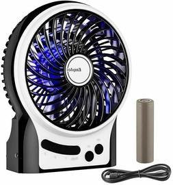 Battery Fan, EasyAcc Rechargeable Table Fan with 2600mAh Bat