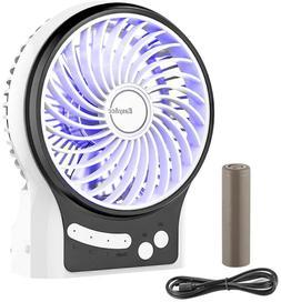 Battery Fan,EasyAcc Rechargeable Table Fan with 2600mAh Batt