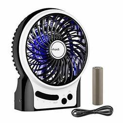 Battery Fan, EasyAcc Rechargeable Table Fan with LG 2600mAh