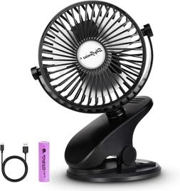 Skygenius Battery Operated Stroller Fan, Rechargeable Usb Po