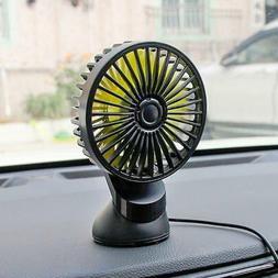 Black Portable 5V 1A Travel Fan Rechargeable USB Desk Fan Ca
