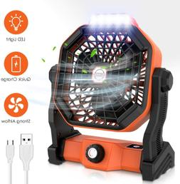 Mifanstech X20 Camping Fan with LED Lights, Portable USB Box