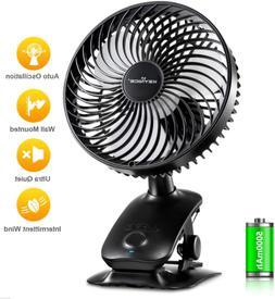 Clip On Fan 5000mAh Rechargeable Battery Operated Desk Fan A