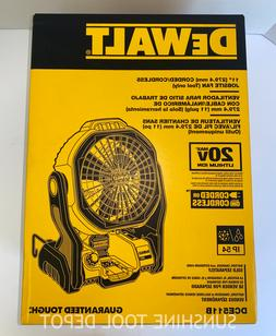 DeWALT DCE511B 20-Volt Max 11-Inch Durable Cordless/Corded J