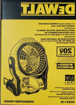 DEWALT DCE511B 20-Volt Max Jobsite Fan Battery Not Included