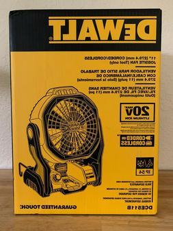Dewalt DCE511B Cordless or Corded 20 Volt Jobsite Fan, NEW,