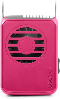 O2Cool Deluxe Necklace Raspberry Personal Fan, Universal