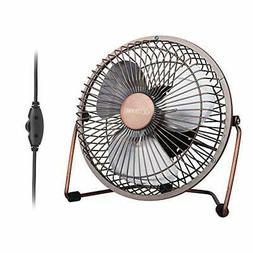 GLAMOURIC Desk Fan - 6 inch USB Quiet Desk Fan Retro Design