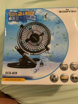KEYNICE Desk Fan, Rechargeable 5000mAh Battery Operated Clip