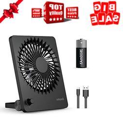 Desk Fan Rechargeable Personal Battery Fan Portable Mini USB