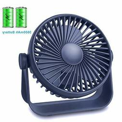 Desk Small Table Fan Rechargeable Battery Operated Mini Fan