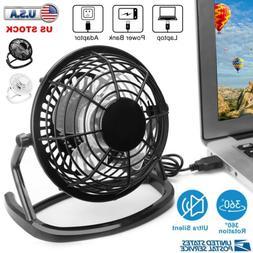 Desk Table Fan Personal USB Small Air Circulator Quiet Mini
