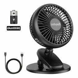EasyAcc Battery Fan, Clip Fan Baby Stroller Cooling Fans 4 S