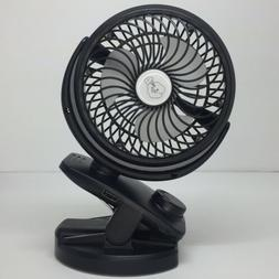 F150 Clip On Stroller Desk Fan Rechargeable 4400 mAh Battery