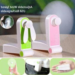Foldable Hand Pocket USB Fans Rechargeable Handheld Portable
