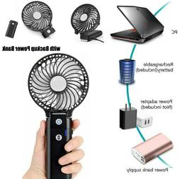 Handheld Foldable Cooling Fan with 5200 mAh Power Bank Batte