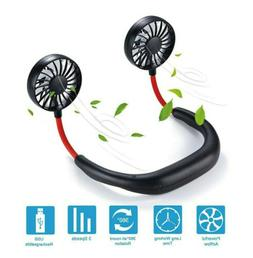 Hands Free Neck Fan Portable Fan Mini USB Personal Rechargea