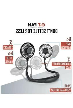 Hands Free Portable Hanging Neck Fan - Rechargeable 2500 mAh