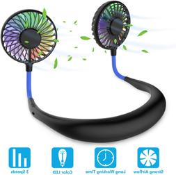 Hands Free Portable Neck Fan - Rechargeable Mini USB Persona