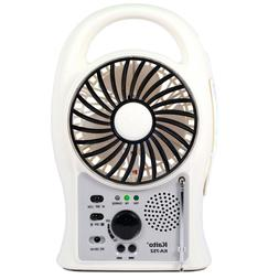 Kaito KA752 Portable Rechargeable 5-Inch Fan with LED Lanter