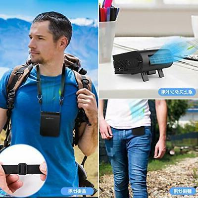 KEYNICE belt portable fan USB Rechargeable