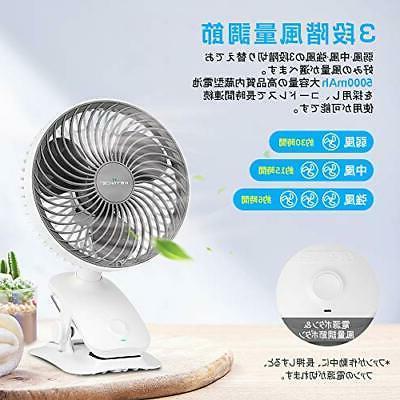 KEYNICE rechargeable fan fan