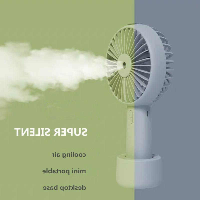battery portable water spray mist fan electric