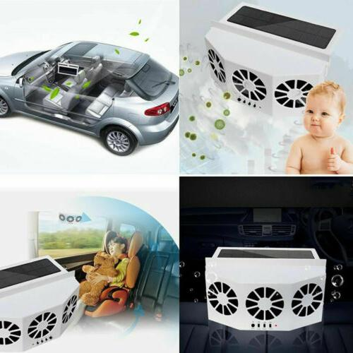 Car Solar Cooling Fan Rechargeable Auto Quiet Air Conditioner