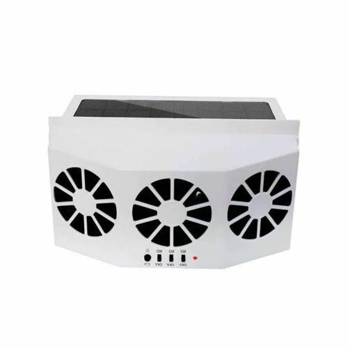 Car Solar Fan Rechargeable Vehicle Cooler