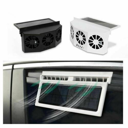Car Solar Fan Rechargeable Quiet Conditioner New