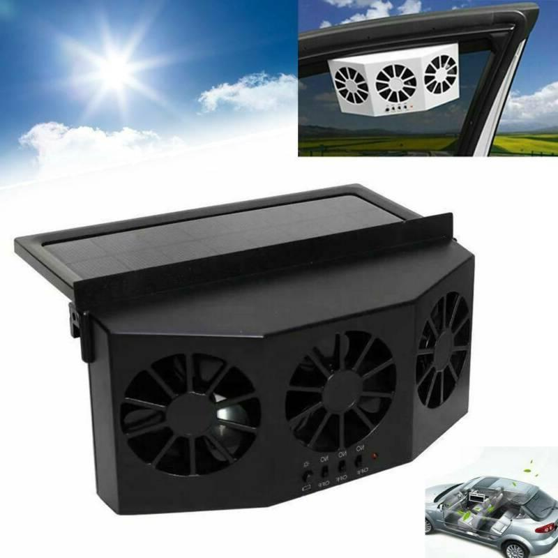 car solar cooling fan rechargeable auto vehicle