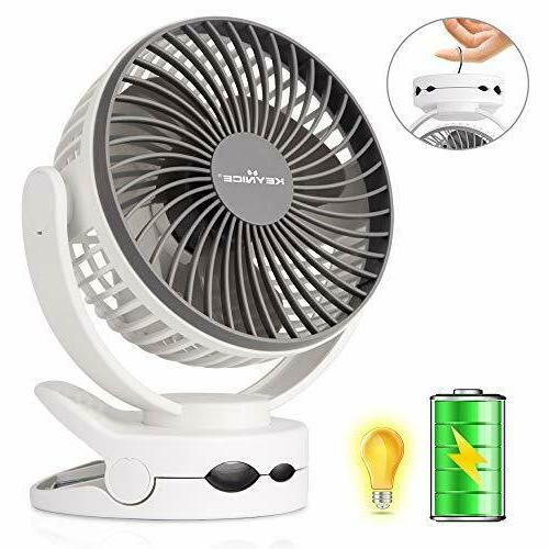 clip fan with night light usb desk