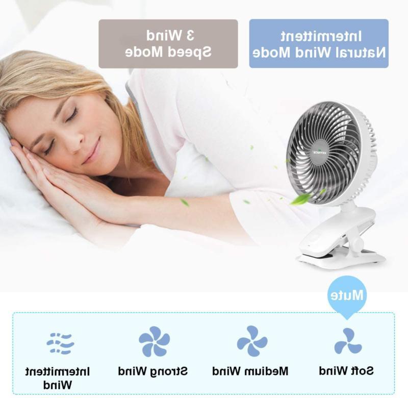 KEYNICE 5000mAh Desk Fan, Auto Oscill