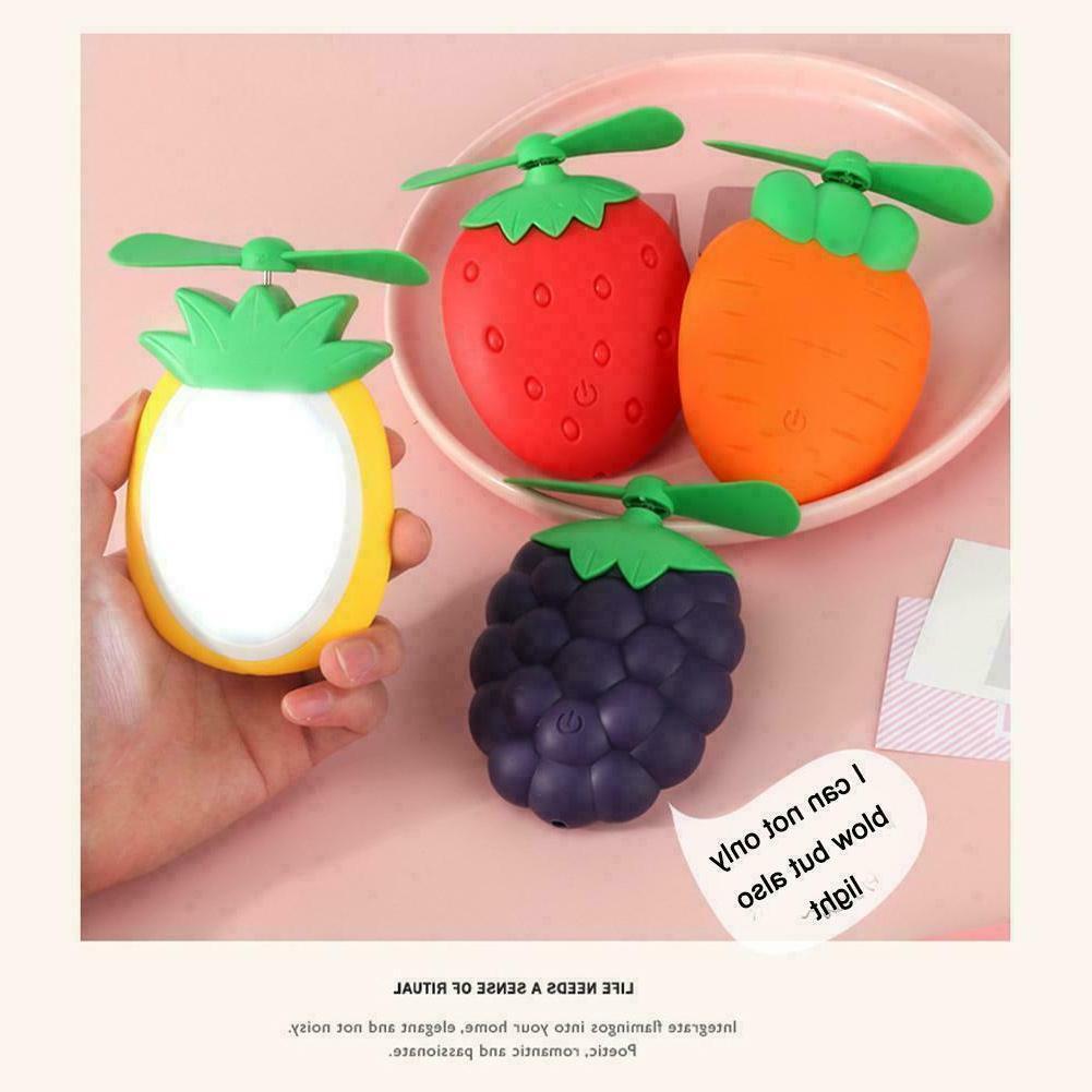 Cute Fruit Rechargeable Fan Home