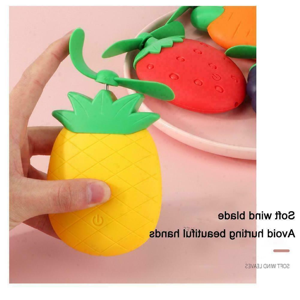 Cute Fruit Rechargeable Portable Fan Home