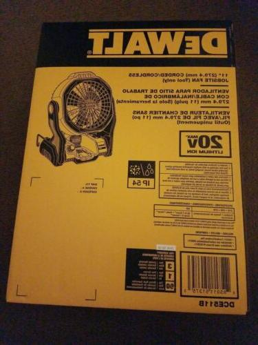 DeWALT 20-Volt 11-Inch Fan