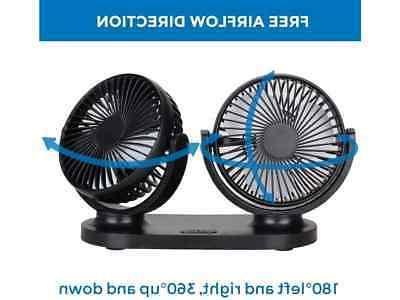 Dual Car Fans - 24V Rechargeable