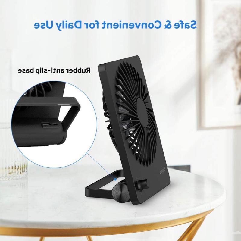EasyAcc Desk Fan,Rechargeable Personal Battery USB